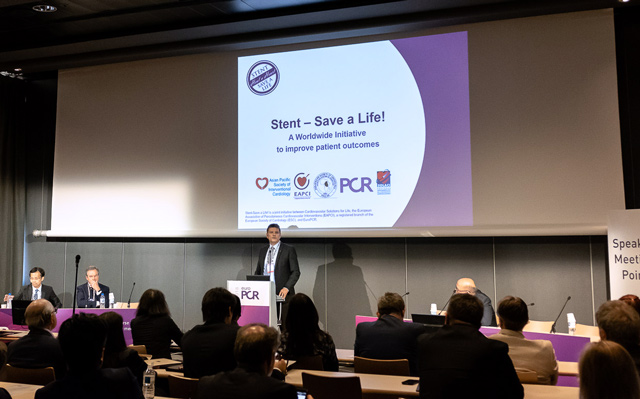 Christoper Naber at The Stent – Save a Life! Forum, EuroPCR 2018